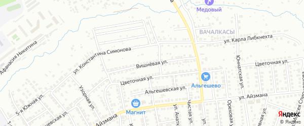 Вишневая улица на карте Чебоксар с номерами домов