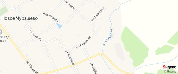 Переулок Сехнерка на карте села Новое Чурашево с номерами домов
