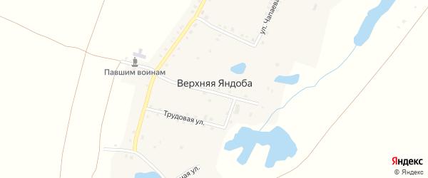 Улица Ленина на карте деревни Верхней Яндобы с номерами домов