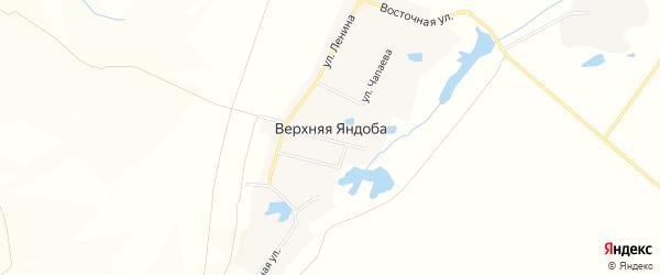 Карта деревни Верхней Яндобы в Чувашии с улицами и номерами домов