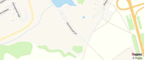 Колхозная улица на карте поселка Кугеси с номерами домов