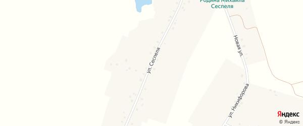 Улица Сеспеля на карте деревни Сеспели с номерами домов