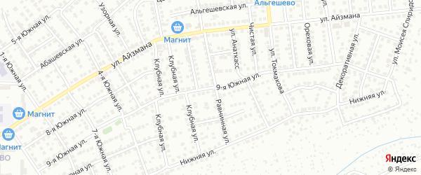 9-я Южная улица на карте Чебоксар с номерами домов