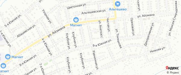 Равнинная улица на карте Чебоксар с номерами домов