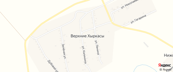 Улица Ленина на карте деревни Верхние Хыркасы с номерами домов