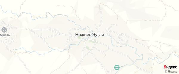 Карта села Нижнего Чугли в Дагестане с улицами и номерами домов