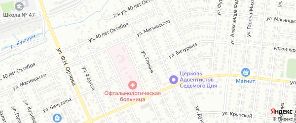 Улица Глинки на карте Чебоксар с номерами домов