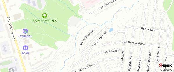 Улица 4-я Ермака на карте Чебоксар с номерами домов