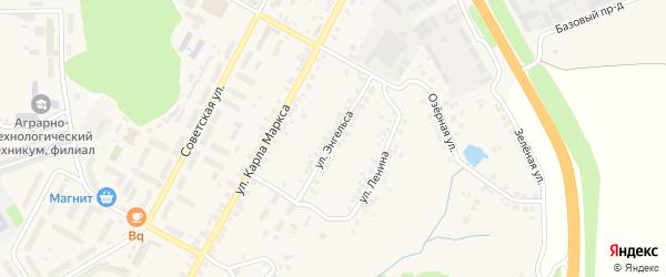 Улица Энгельса на карте поселка Кугеси с номерами домов