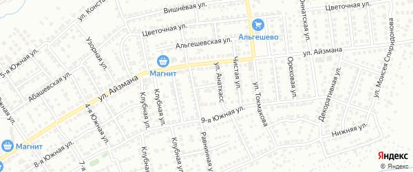 Переулок Анаткасс на карте Чебоксар с номерами домов