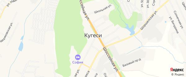 Карта поселка Кугеси в Чувашии с улицами и номерами домов