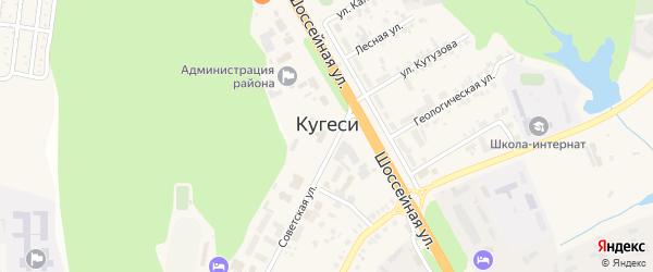 Весенняя улица на карте поселка Кугеси с номерами домов