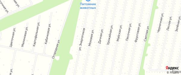 Моховая улица на карте садового некоммерческого товарищества Строителя сада N2 с номерами домов