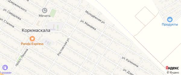 Улица Калинина на карте села Коркмаскалы с номерами домов
