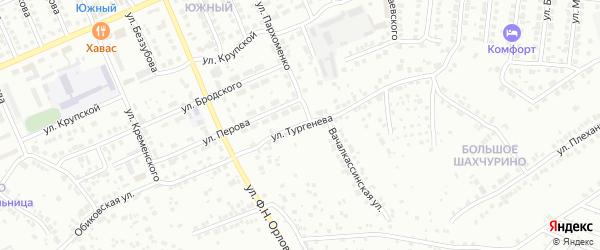 Улица Тургенева на карте Чебоксар с номерами домов