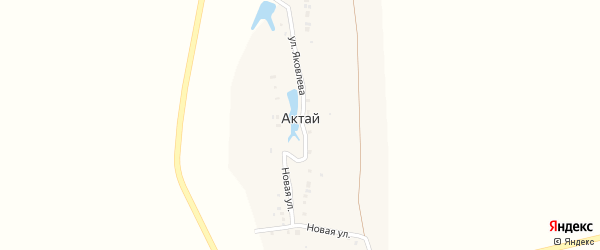 Улица Яковлева на карте деревни Актая с номерами домов