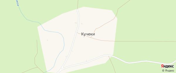 Пионерская улица на карте поселка Кучеки с номерами домов
