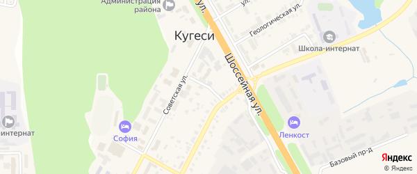 Аптечный переулок на карте поселка Кугеси с номерами домов