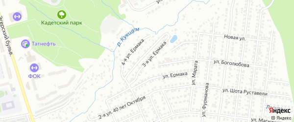 Улица 3-я Ермака на карте Чебоксар с номерами домов
