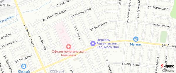 Улица Мусоргского на карте Чебоксар с номерами домов