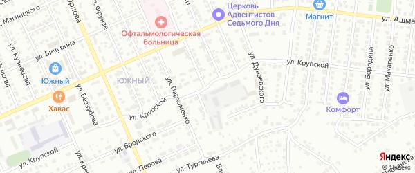 Улица Крупской на карте Чебоксар с номерами домов