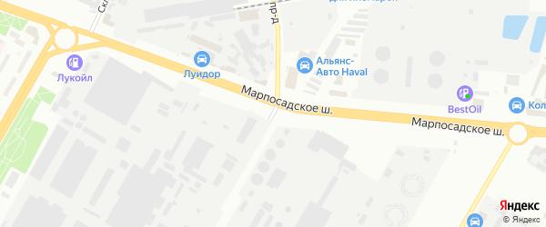 Инструментальный проезд на карте Чебоксар с номерами домов