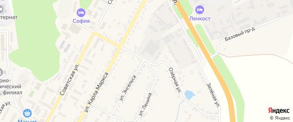 Озерная улица на карте поселка Кугеси с номерами домов