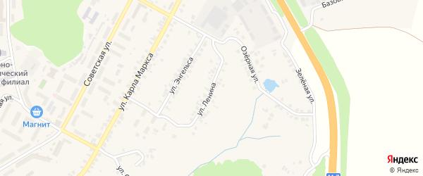 Улица Ленина на карте поселка Кугеси с номерами домов