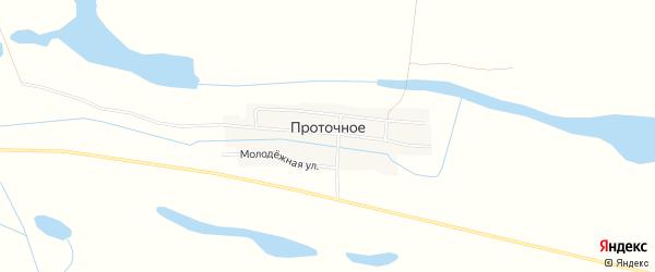 Карта Проточного села в Астраханской области с улицами и номерами домов