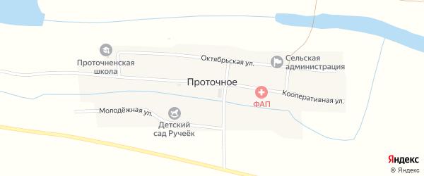 Молодежная улица на карте Проточного села с номерами домов