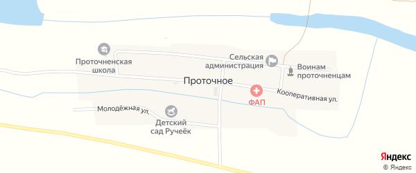 Кооперативная улица на карте Проточного села с номерами домов