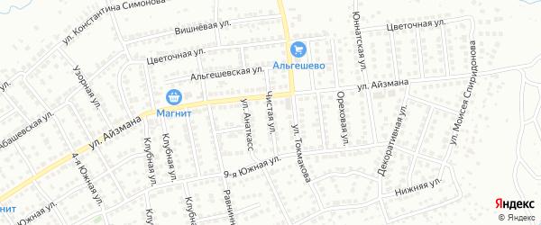 Чистая улица на карте Чебоксар с номерами домов