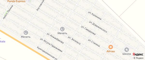 Улица Сталина на карте села Коркмаскалы с номерами домов
