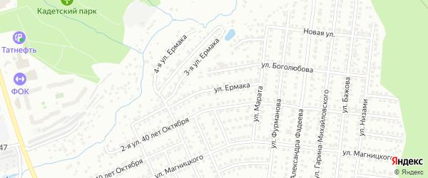 Улица Ермака на карте Чебоксар с номерами домов