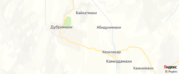 Карта хутора Шинкбалакады в Дагестане с улицами и номерами домов