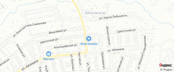 Цветочная улица на карте Чебоксар с номерами домов