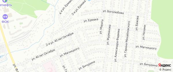 Улица С.Есенина на карте Чебоксар с номерами домов