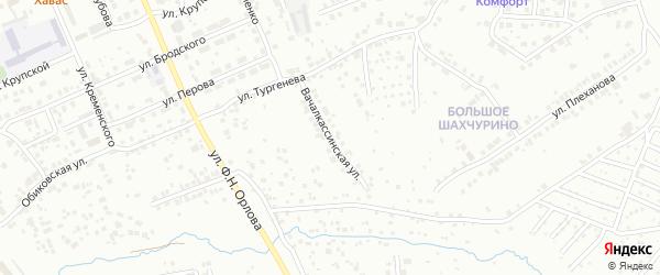 Вачалкассинская улица на карте Чебоксар с номерами домов