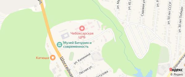 Школьная улица на карте поселка Кугеси с номерами домов