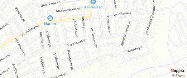Улица Токмакова на карте Чебоксар с номерами домов