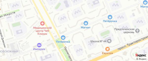 Улица Кадыкова на карте Чебоксар с номерами домов