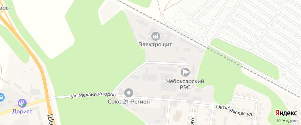 Монтажный проезд на карте поселка Кугеси с номерами домов