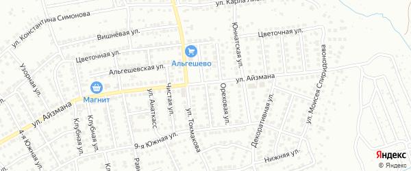 Лиственная улица на карте Чебоксар с номерами домов