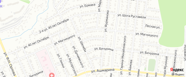 Улица Шубоссинни на карте Чебоксар с номерами домов