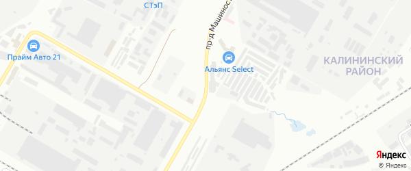 Проезд Машиностроителей на карте Чебоксар с номерами домов