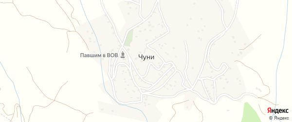 Хунзахская улица на карте села Чуни с номерами домов