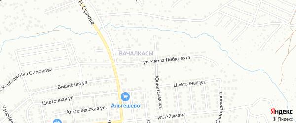 Улица К.Либкнехта на карте Чебоксар с номерами домов