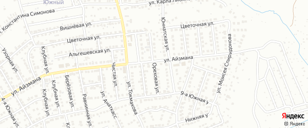 Ореховая улица на карте Чебоксар с номерами домов