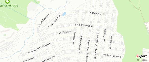 Улица Марата на карте Чебоксар с номерами домов