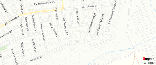 Переулок Токмакова на карте Чебоксар с номерами домов